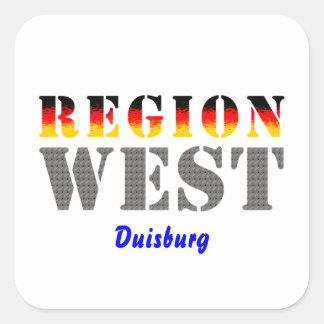 Region west - Duisburg Square Sticker