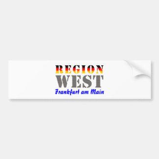 Region west - Frankfurt/Main Bumper Sticker