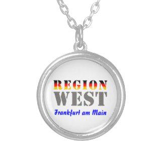 Region west - Frankfurt/Main Round Pendant Necklace