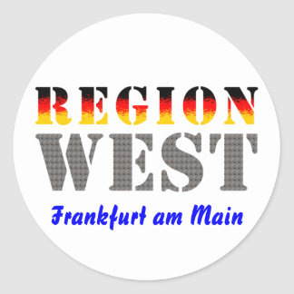 Region west - Frankfurt/Main Round Sticker