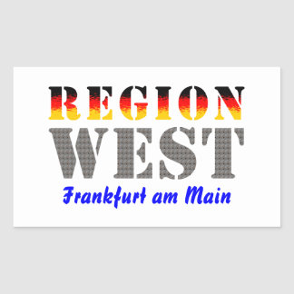 Region west - Frankfurt/Main Rectangular Stickers