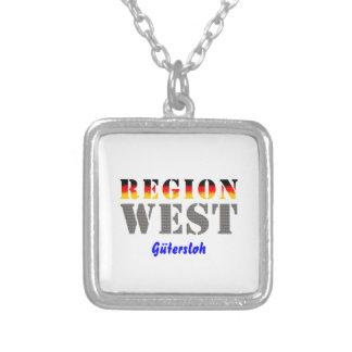 Region west - Gütersloh Square Pendant Necklace