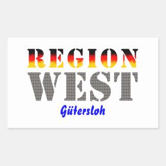 Region west - Gütersloh Rectangular Sticker