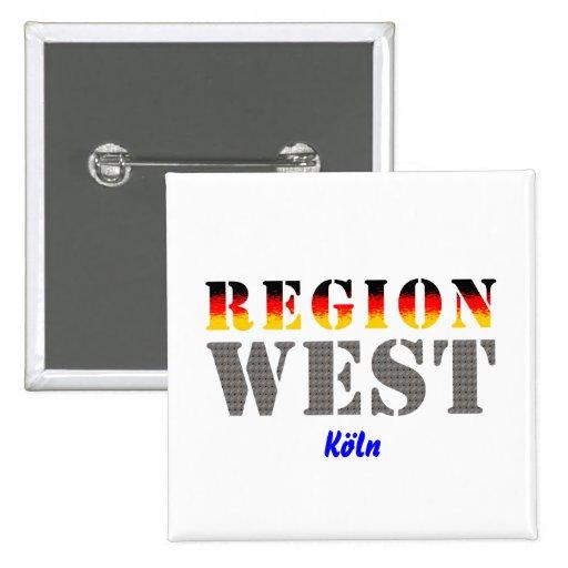 Region West - Köln Anstecknadelbuttons