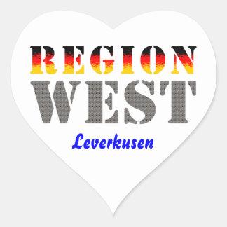Region west - Leverkusen Heart Sticker
