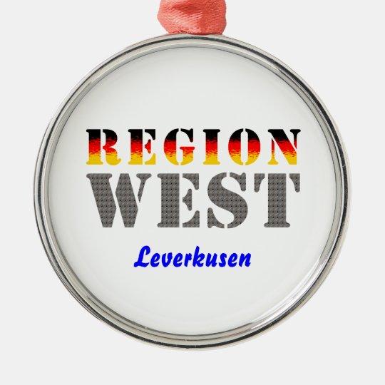 Region west - Leverkusen Metal Ornament