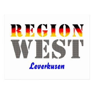 Region west - Leverkusen Postcard