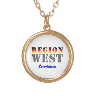 Region west - Leverkusen Round Pendant Necklace