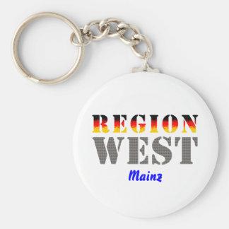 Region west - Mainz Keychain
