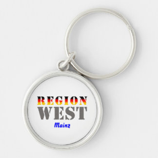 Region west - Mainz Silver-Colored Round Keychain