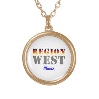 Region west - Mainz Round Pendant Necklace