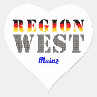 Region west - Mainz Stickers