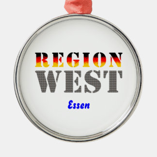 Region west - meals metal ornament