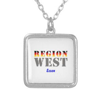 Region west - meals square pendant necklace