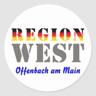 Region west - Offenbach at the Main Classic Round Sticker