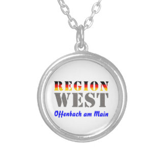 Region west - Offenbach at the Main Round Pendant Necklace