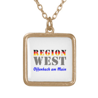 Region west - Offenbach at the Main Square Pendant Necklace