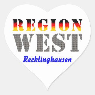 Region west - Recklinghausen Heart Sticker