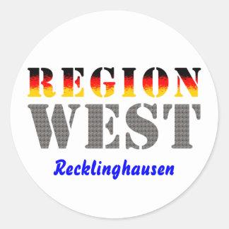 Region west - Recklinghausen Round Sticker