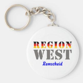 Region west - rem-separate basic round button keychain