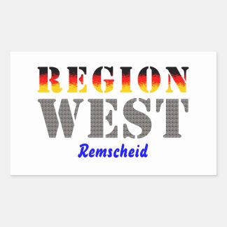 Region west - rem-separate rectangle sticker