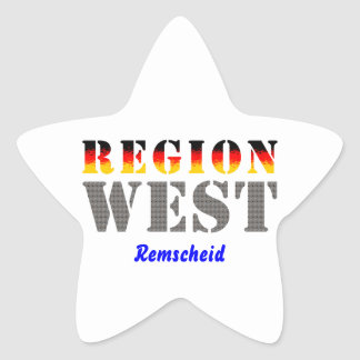 Region west - rem-separate star stickers
