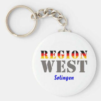 Region west - Solingen Basic Round Button Keychain