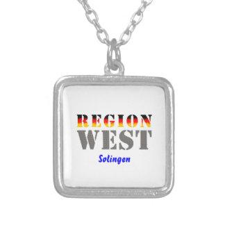 Region west - Solingen Square Pendant Necklace
