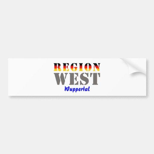 Region west - Wuppertal Car Bumper Sticker