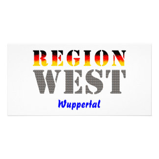 Region west - Wuppertal Photo Card Template