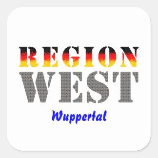 Region west - Wuppertal Square Sticker