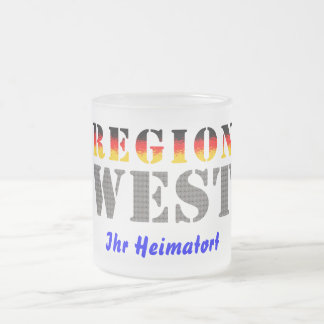 Region west - your place of residence frosted glass coffee mug