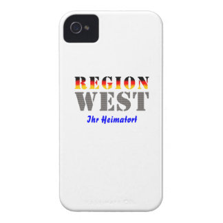 Region west - your place of residence iPhone 4 case