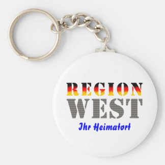 Region west - your place of residence basic round button keychain