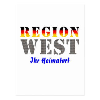 Region west - your place of residence postcards