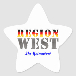 Region west - your place of residence sticker