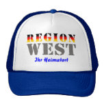 Region west - your place of residence trucker hats