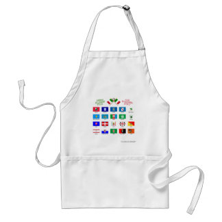 Regional Flags of Italy Adult Apron