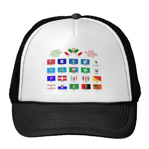 Regional Flags of Italy Mesh Hats