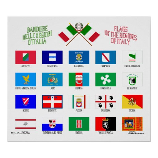 Regional Flags of Italy Print