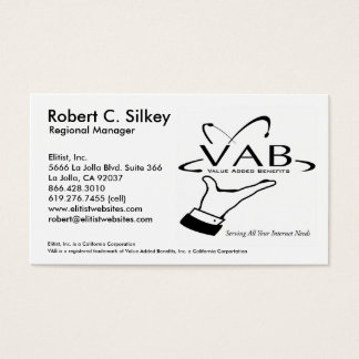 Regional Manager Business Card