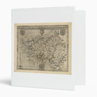 Regional Map Brittany and Armorica France (1594) Binder