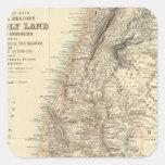 Regiones bíblicas de Turquía y de Asia Calcomanía Cuadradas