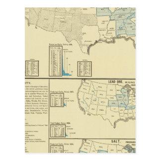 Regiones de mina de mineral de hierro tarjetas postales