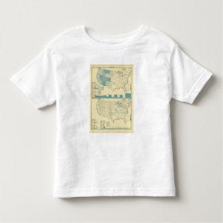 Regiones de plata y de cobre de la explotación t-shirts