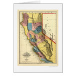 Regiones del oro de mapa de California por Gibbes  Tarjetas