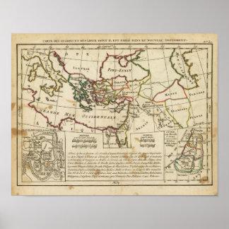 Regiones, lugares en el nuevo testamento póster