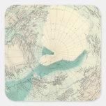 Regiones polares del norte pegatina cuadrada