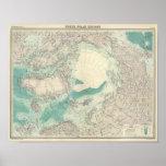 Regiones polares del norte póster