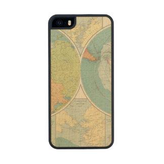 Regiones polares funda de madera para iPhone 5